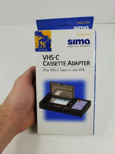 Vintage 1996 VCR VHS-C CASSETTE ADAPTER by Sima NEW IN PACKAGE Model SCA