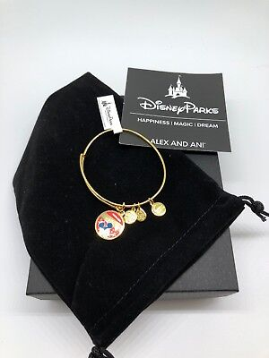Mickey-mouse-banner (Disney Parks Mickey Mouse Banner Bangle by Alex and Ani Gold Finish New Tags)