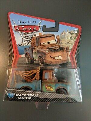DISNEY PIXAR CARS 2 RACE TEAM MATER TOW TRUCK DIE-CAST Mattel NEW (Tow Mater)