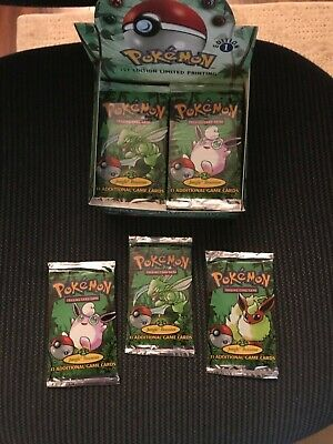 Pokemon Jungle 1st Edition Booster Pack (1) From Factory Sealed Box, UNWEIGHED