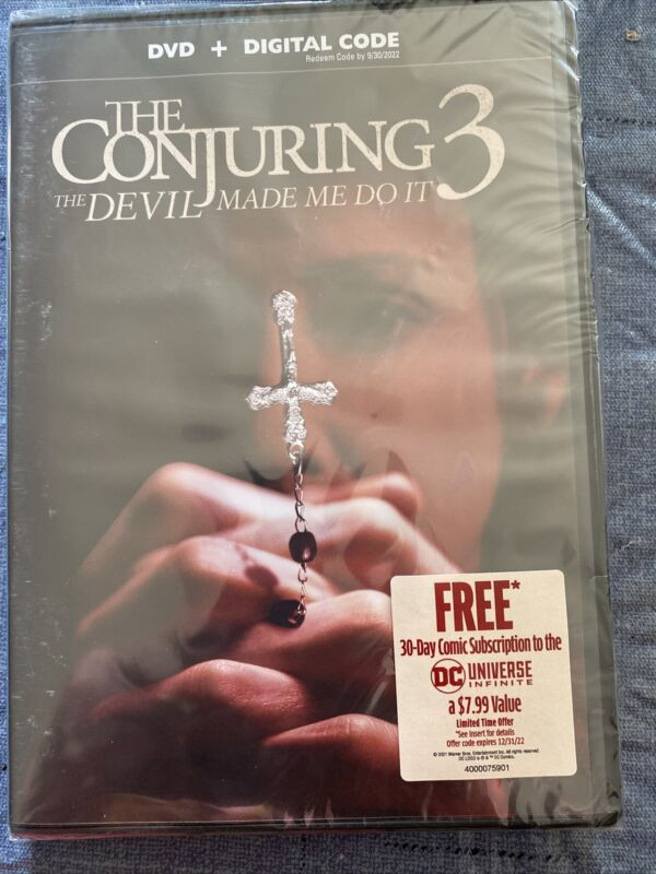 The CONJURING 3 The Devil Made Me Do It DVD + DIGITAL New & Sealed