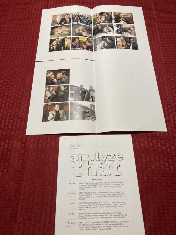 Analyze That Press Photo Guide 2002 Billy Crystal Robert De Niro
