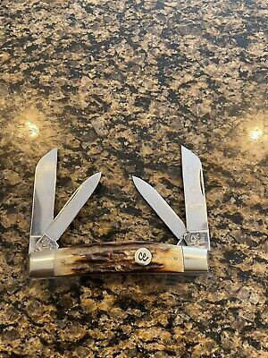 Limited COLONEL COON POLISHED STAG 4 Blade CONGRESS KNIFE 1 Of 200