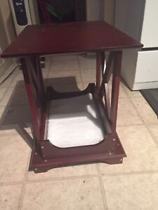 End table with bed for cat or small dog