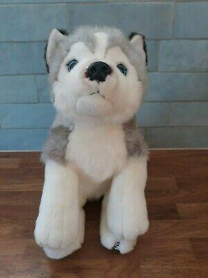 Plush Husky dog from Lapland 32cm - sitting