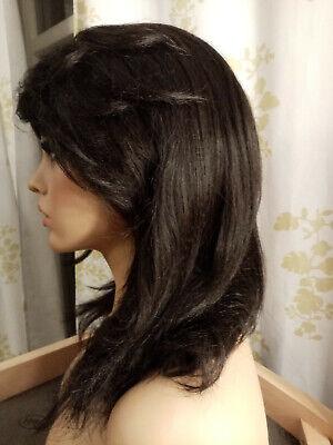 NEU mit ETIKETT Damenperücke #2 dunkel braune lange Haare Perücke Kunsthaar