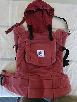 Ergo Baby Carrier Classic Original Cotton Canvas Ergobaby carrier Burgundy Red for sale  Shipping to South Africa