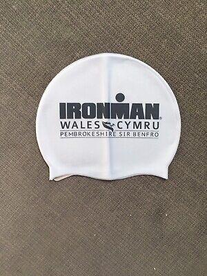 Ironman Wales Triathlon Silver Swim Cap Swimming Hat Arena Silicone (Triathlon Swim Cap)