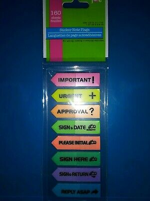 160 Sticky Note Flags Sticky Page Markers Assorted Neon Colors Jot