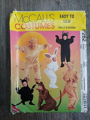 Easy Kangaroo Costume (Mc Calls P262 Costume Easy Adult Bunny Bear Cat Lion Kangaroo Size 31.5-32)
