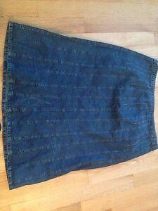 Slight used denim skirt. Plus size