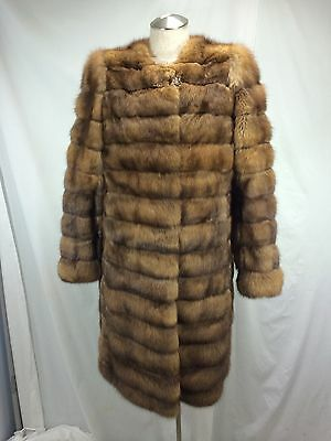TOP DESIGN REAL RUSSIAN FARMED SABLE LONG JACKET - SEXY, FASHIONABLE, EXPENSIVE