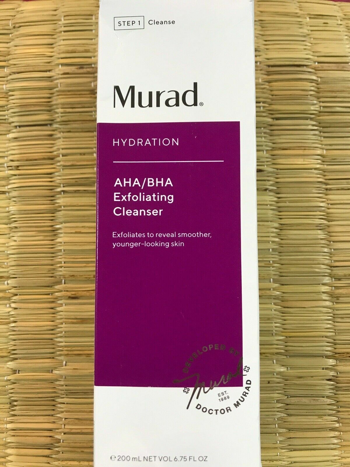 Murad Hydration AHA/BHA Exfoliating Cleanser 6.75oz/200ml NE