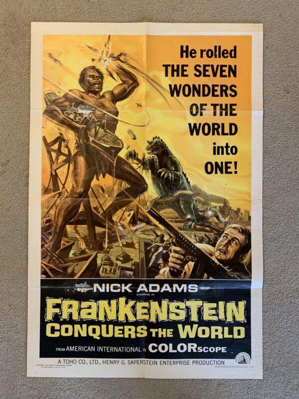Frankenstein Conquers The World Original One Sheet Movie Poster Godzilla Toho