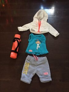 "Yoga set for 18"" doll"