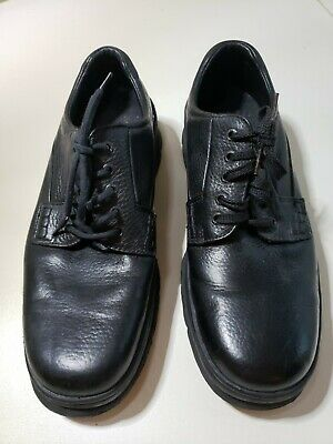 Hush Puppies Zero G Lace Up Black Plain Toe Leather Oxford Mens Size 13 Puppies Plain Leather
