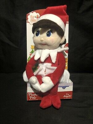 "New Elf on the Shelf 17"" Plushee Pals Doll-Girl-For All Ages-Lt Skin-Blue Eyes"