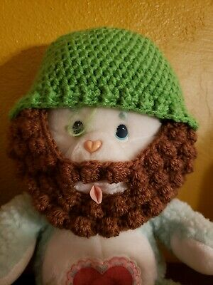 Bearded Kids - Green with Brown beard Hat Childrens Warm Winter Cap 3-10 beardo](Kid With Beard)