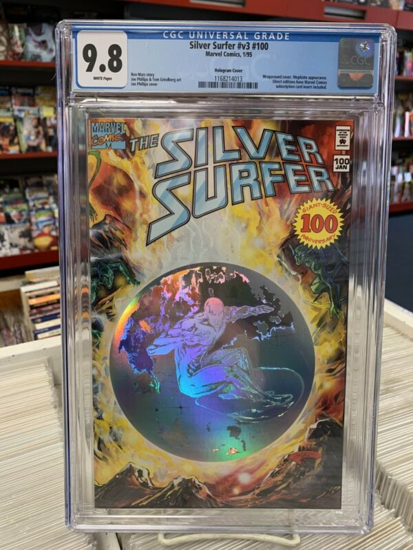 SILVER SURFER #100 (Marvel Comics, 1995) CGC Graded 9.8 ~ White Pages