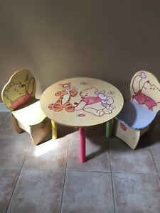 Winnie The Pooh Table & Chairs