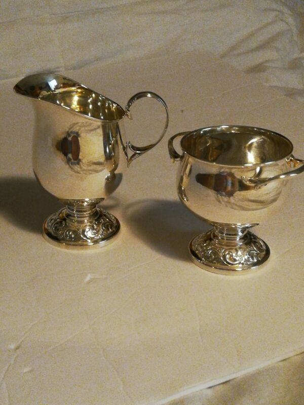 Vintage Towle Silver Sterling 250 Sugar And Creamer Set