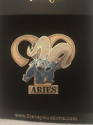 Disney Auctions DA P.I.N.S. Stitch Aries Ram Zodiac Pin LE 500  March Astrology