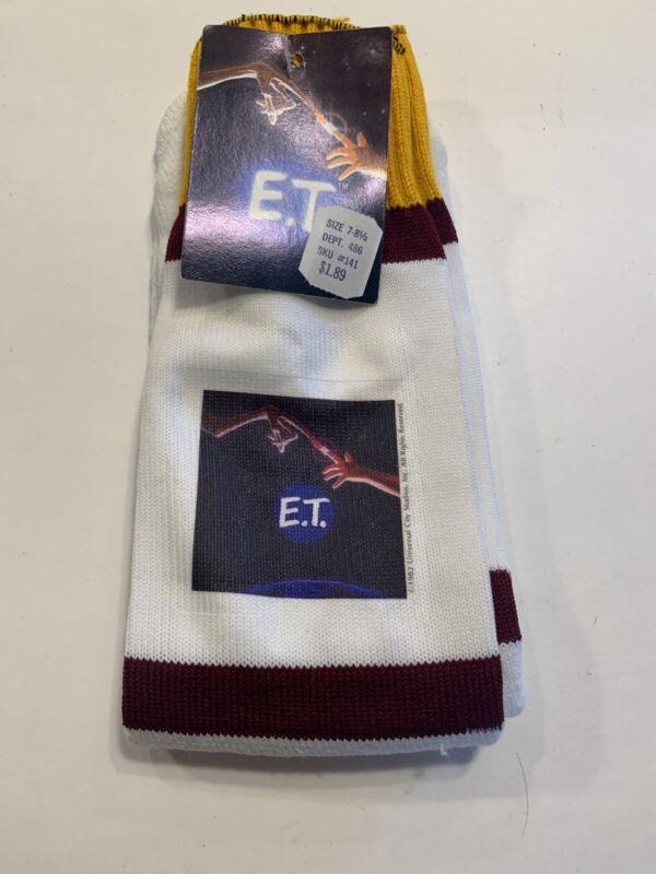 NEW RARE VINTAGE E.T. THE MOVIE ORLON 80s TUBE SOCKS HOLLYWOOD 1982