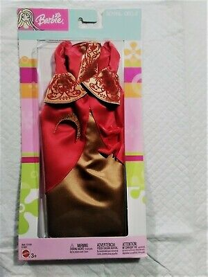 Barbie Fashion Ave Royal Circle Red and Gold Gown with Tiara Asst. C1191 #C1357