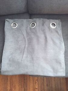Grey panel curtains 83''