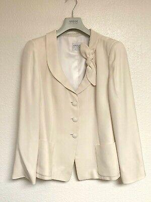 Women's Large, Armani Collezioni Blazer, White with Bow