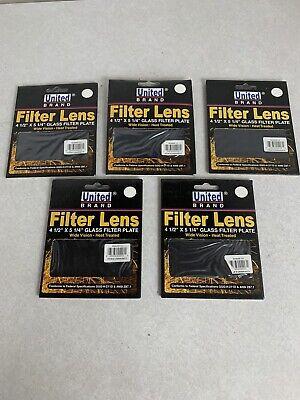 Welding Helmet Glass Filter Lens Plate 4-12 X 5-14 Shade 13 Dark Qty 5
