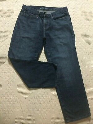 Relaxed Fit Crop - Eddie Bauer womens size 6 jeans crop Boyfriend Relaxed fit blue denim