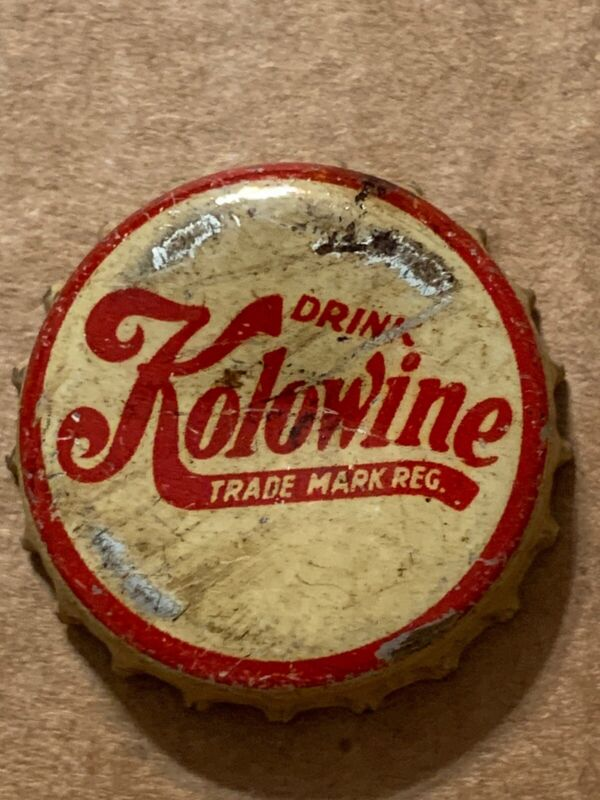 VINTAGE KOLOWINE SODA BOTTLE CAP USED CORK LINED RARE!