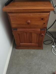 Timber Bedside Table Picnic Point Bankstown Area Preview