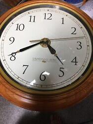 Savannah Row Glass/Wood Wall Clock,Works Battery Gold Design