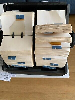 Vintage Black Metal Twin Rotary Rolodex Approx 3000 Cards W Cover Model 3504-t