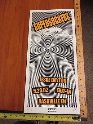 2002  Rock Roll Concert Poster Supersuckers Jesse Dayton SN LE#40 Nashville