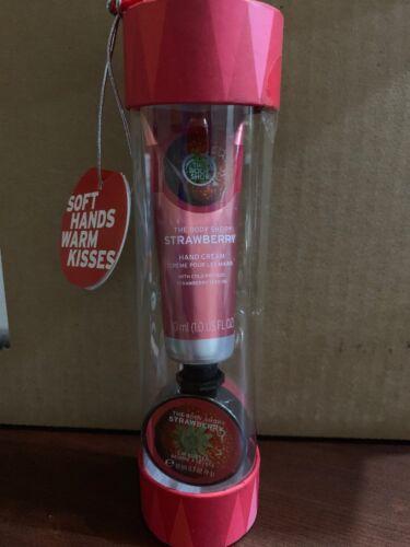 The Body Shop STRAWBERRY Soft Hands Cream + Warm Kisses Lip