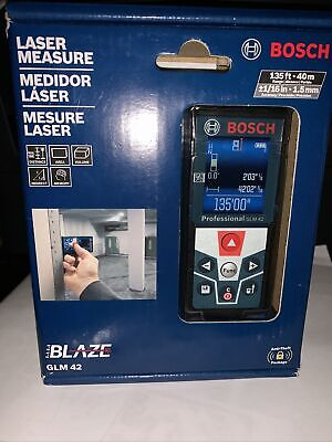 Bosch Blaze Glm 42 135 Ft. Laser Measure With Full-color Display Brand New