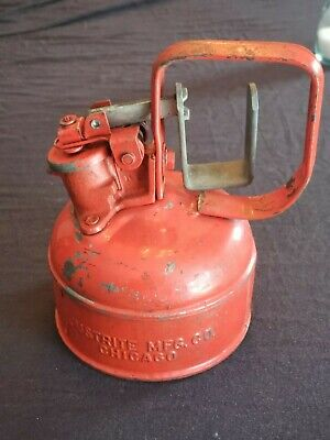 Vintage Justrite Mfg Chicago Safety Can 1 Pint No. 253251