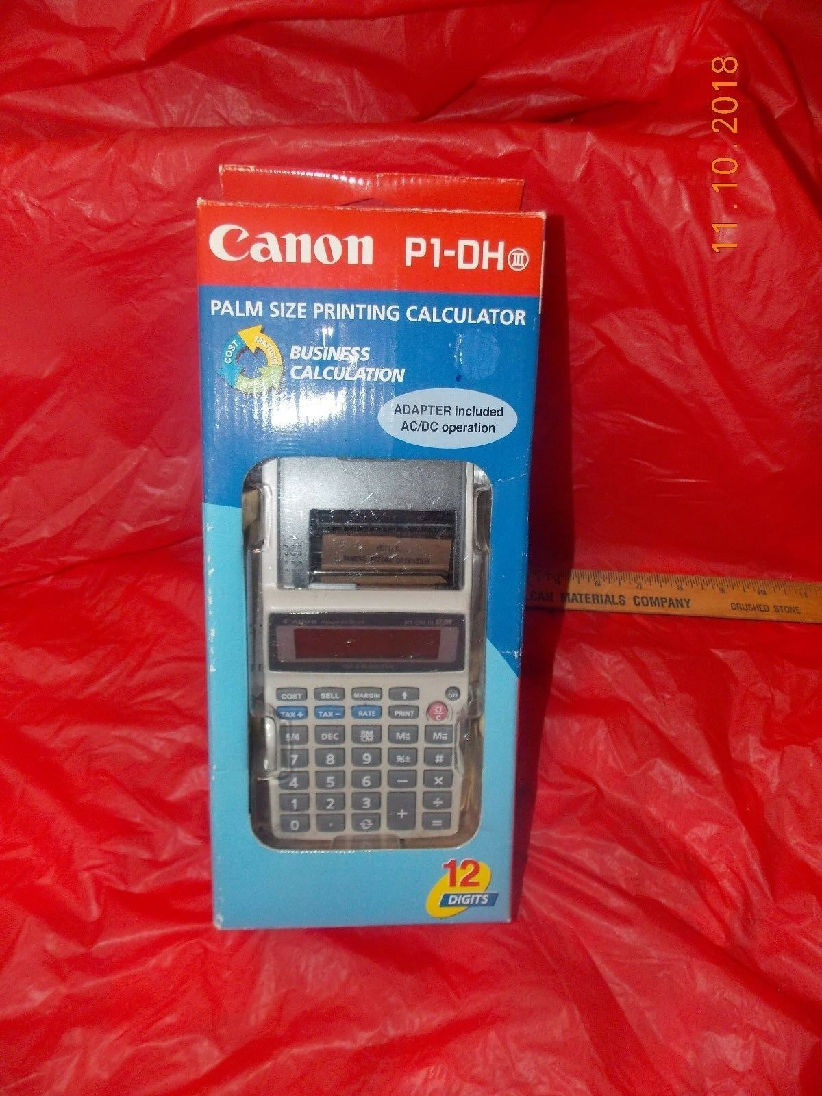 Canon P1-DH lll 3 Palm Sized Printing Calculator - Brand New
