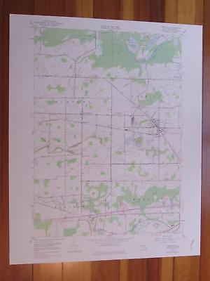 Oakfield New York 1978 Original Vintage USGS Topo Map