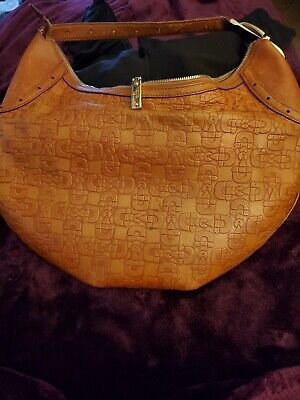 Gucci Monogram Horsebit Brown Leather Hobo Purse Bag + Matching Wallet