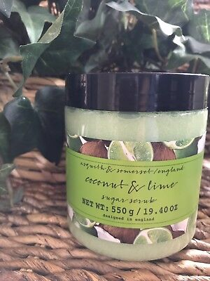- Asquith & Somerset SEALED Coconut and Lime Exfoliating Sugar Body Scrub 19.4 OZ