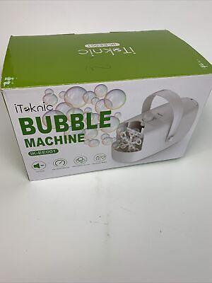 ITOKIC Bubble Machine Portable Motorized Multi Speed IK-EE001 USED Free Shipping