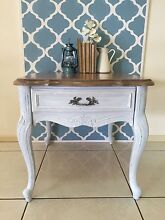 French Provincial Hand Carved Lamp/ Side Table Cashmere Pine Rivers Area Preview