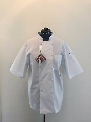 New White Chef Coat Made By Chef Trends By Pinnacle Sz Large Unisex Kitchen Cook