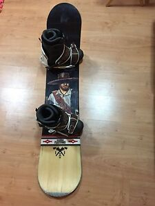 Snow Board and K2 boots, Atomic bindings