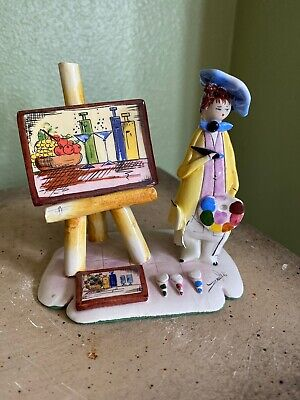 Vintage Zampiva Artist Ceramic Figurine Painter From Italy Signed for sale  Shipping to Ireland