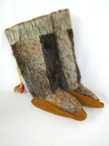 Vintage  Canadian First Nations Inuit Mukluk Boots with liners